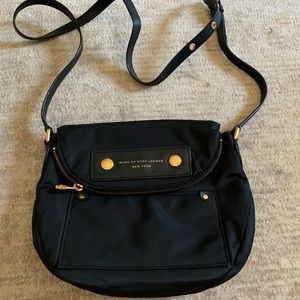 Marc Jacobs black nylon crossbody bag